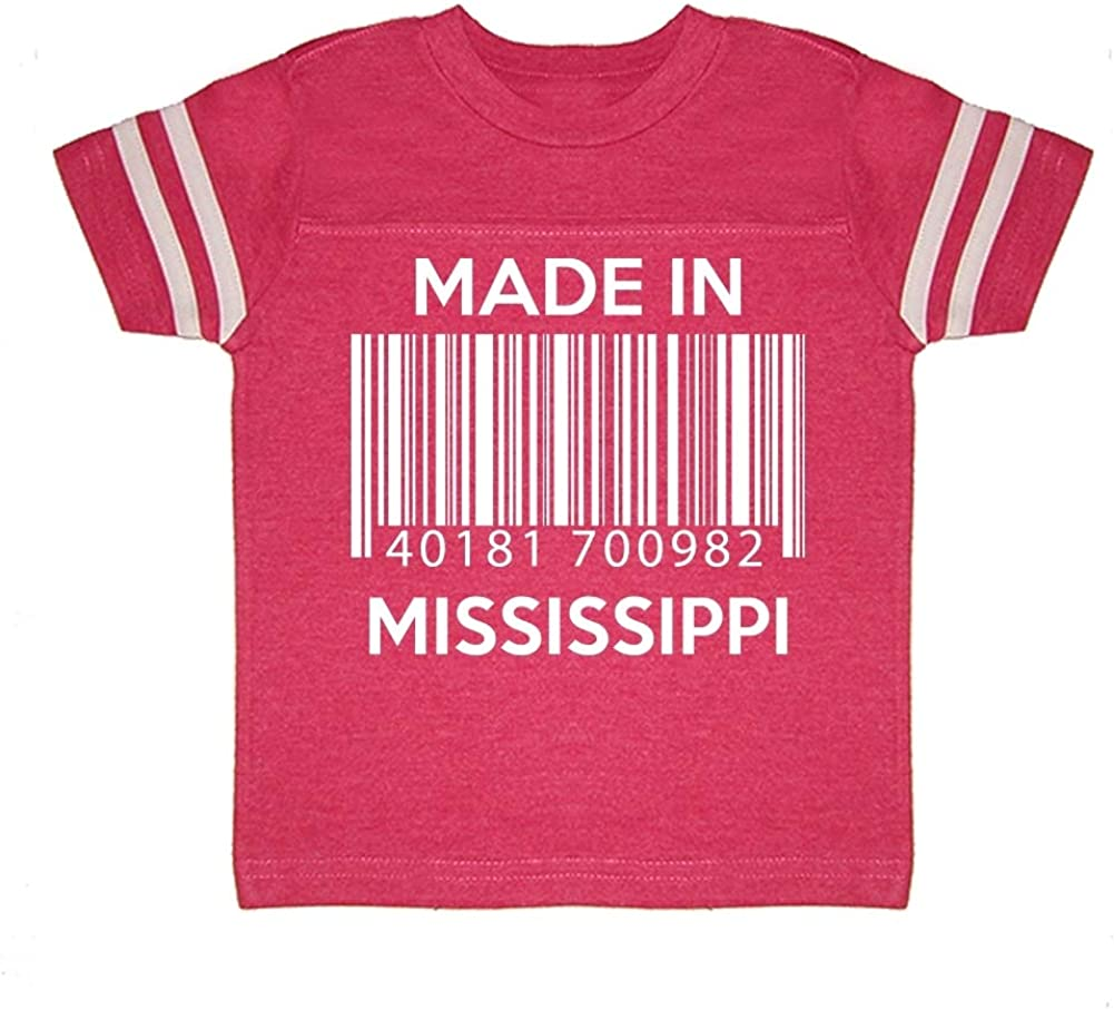 Made in Mississippi Toddler//Kids Sporty T-Shirt Barcode