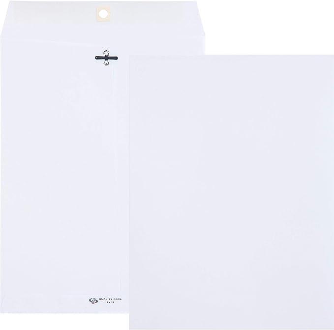 Gray 28Lb 100//BX 9x12 QUA38590 Gummed Clasp Envelope