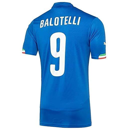 1086e8596 Puma BALOTELLI  9 Italy Home Jersey World Cup 2014 (Authentic name and  number)