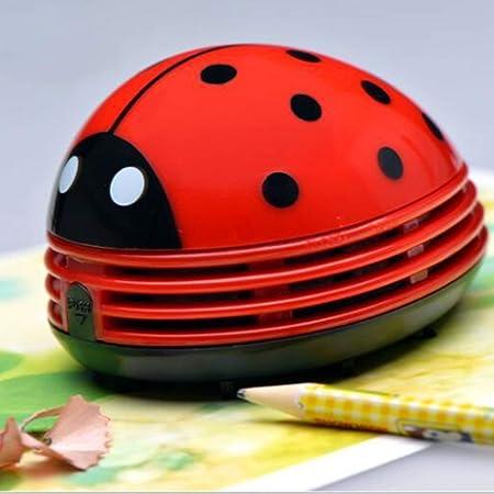 Longspeed Operado por batería Aspirador con Forma de Dibujos Animados Teclado de Escritorio Aspirador Mini Recolector de Polvo Barredora de Migas para Oficina en casa - Rojo: Amazon.es: Hogar