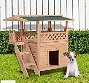 Amazon.com : Wooden Pet House Cat Room Dog Puppy Large