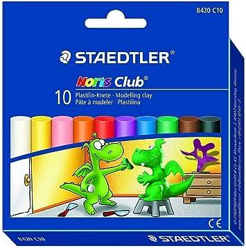 STAEDTLER Plastilina arcilla Noris Club® 10 colores en caja de cartón: Amazon.es: Electrónica