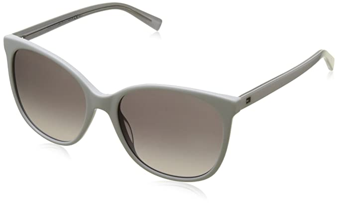 Unisex-Adults TH 1397/S T7 Sunglasses, Crystal Grey, 56 Tommy Hilfiger