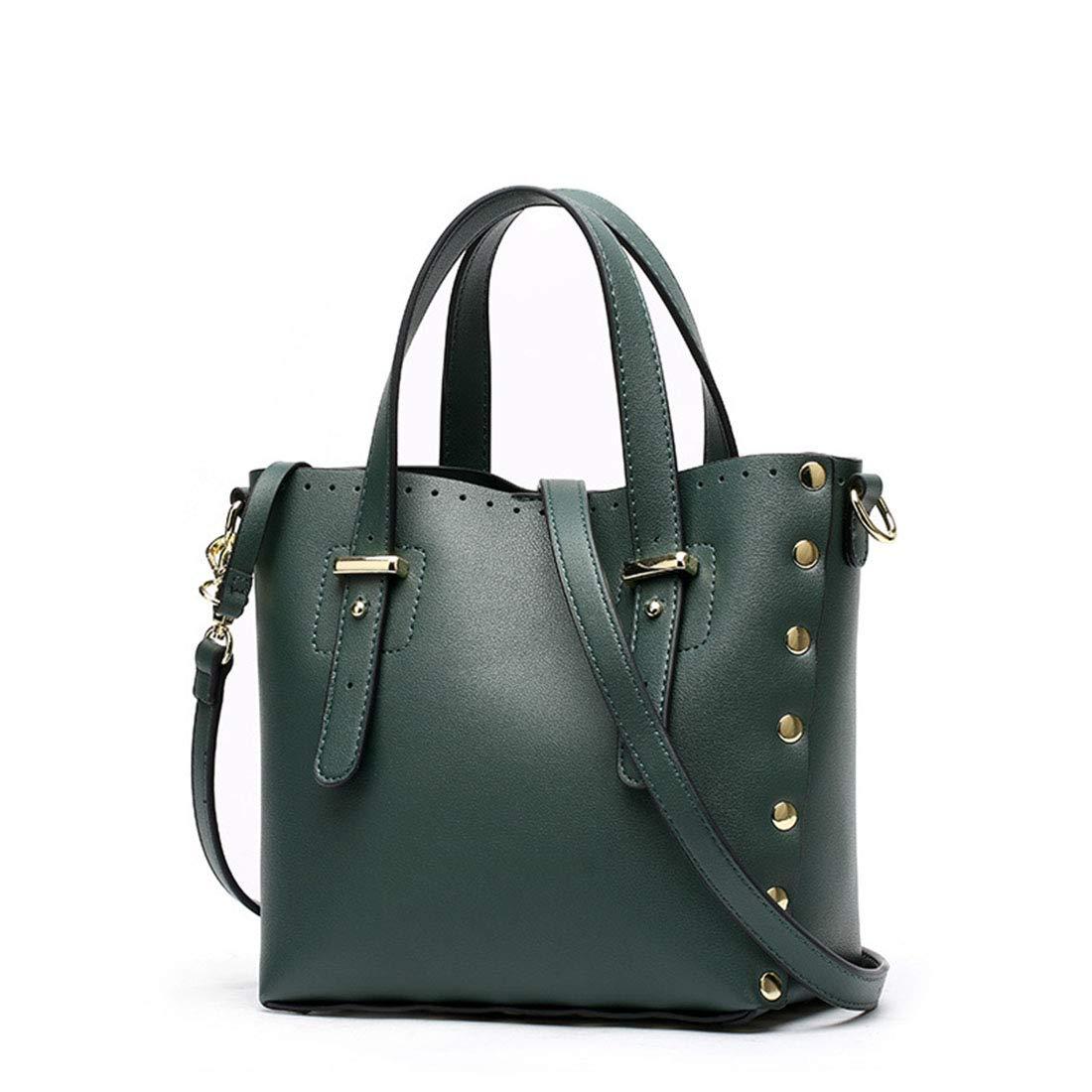 Dark Green AIYAMAYA Simple Retro Magnetic Buckle Large Capacity Photo Bag Square PU Shoulder Bag Messenger Bag