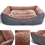 Smiling Paws Pets Washable Premium Dog and Cat Bed/Lounge with Soft Sides - Organic Cotton - A Puppy and Kitty Dream Bed | 35' x 26' x 7'