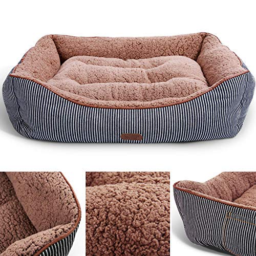(Smiling Paws Pets Cat Beds for Indoor Cats - Self Warming Cat Bed for Small & Large Cats. A Cute, Modern, Cozy & Warm Pet Bed for Cats & Kittens - 25