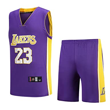 Hombres de Ropa Deportiva de Baloncesto, Jersey Lakers James 23 ...