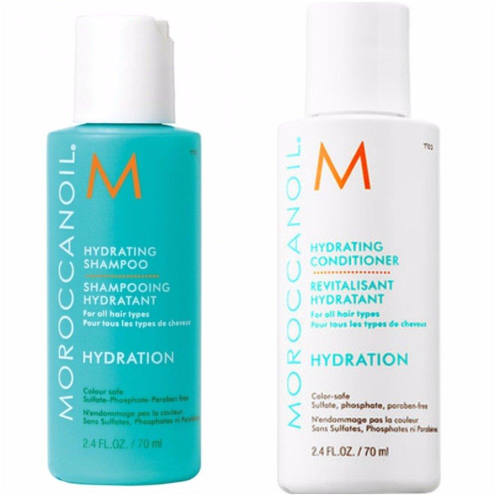Moroccanoil, shampoo e balsamo idratanti, 70 ml, confezione viaggio Moroccan oil