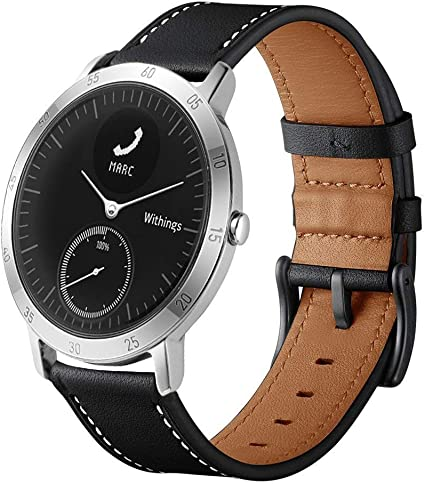 LeafBoat Compatible Withings/Nokia Steel HR Sport Smartwatch (40mm) Bands, Geniune Leather Replacement Strap Compatible Withings/Nokia Steel HR Sport ...