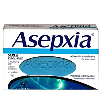 Asepxia Soap Scrub (blue) 3.52 oz - Jabon Exfoliante Azul (Pack of 18
