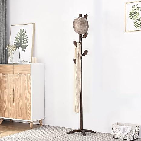 YMJ Perchero Árbol Ropa Rack Estilo de Piso Ropa Dormitorio ...