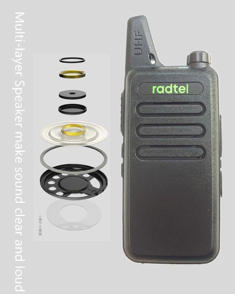Radtel RT-10 Mini Two Way Radio UHF 400-470Mhz 3W Kid's Walkie Talkie , for Outdoor Camping Hiking Hunting Gift (10 Pack) by radtel (Image #3)