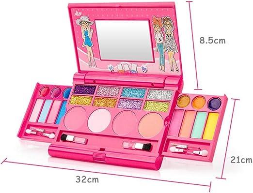 Juguetes para Niños, Kit De Maquillaje para Niñas, Cosméticos Seguros Y No Tóxicos, Gran Maquillaje Lavable para Niños (Maquillaje No Real): Amazon.es: Hogar