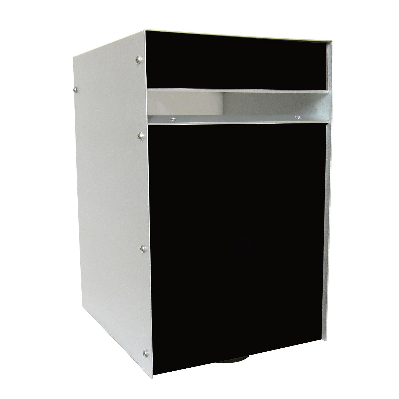 Box Design ポスト 郵便受け Designer Range b/o Black B00W6HW4NG Black Black