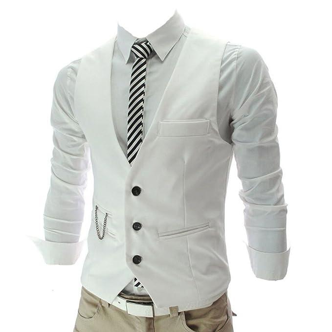 7 opinioni per Highdas Uomo Slim Fit Mens del vestito della maglia maschio panciotto Sleeveless