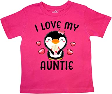 inktastic I Love My Titi with Cute Penguin and Hearts Baby T-Shirt