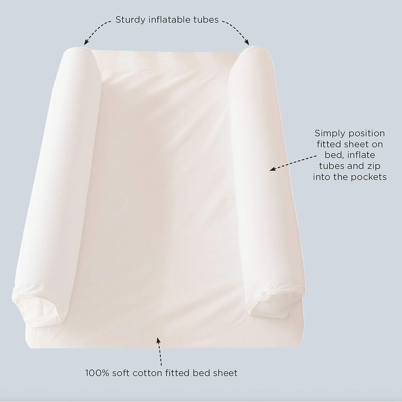 Hippychick Dreamtubes-gonflable lit gardes avec Coton Feuille Lit Simple