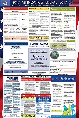 2017 Minnesota and Federal Labor Law Poster Laminated