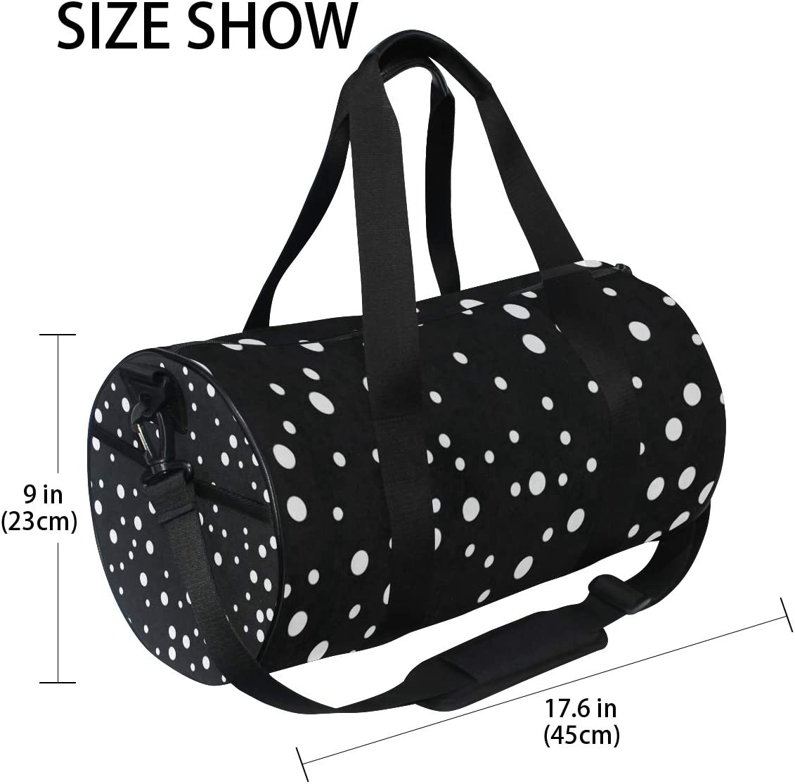 Sports Bag Bubbles Circle Dots Mens Duffle Luggage Travel Bags Kid Lightweight Gym bag