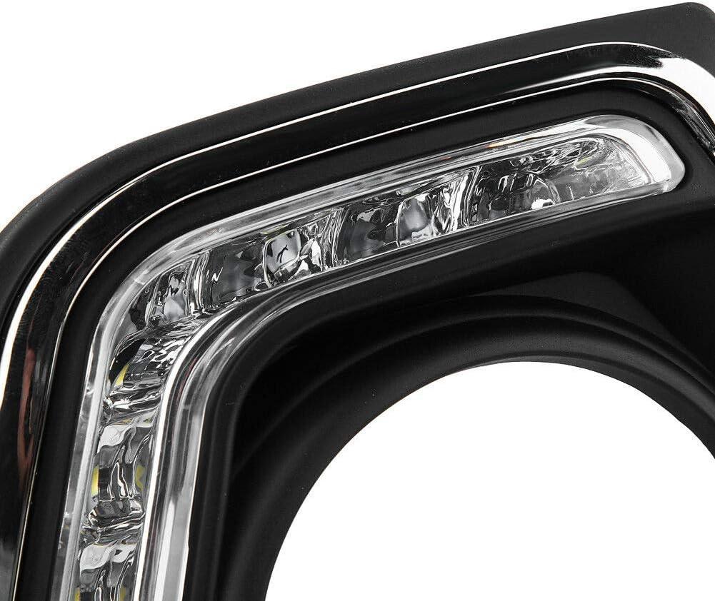 1 Pair Super Bright Car Daytime Running Light DRL LED Daylight Fog Lamp for Hyun-dai Grand I10 Xcent 14-16 Daytime Running Light