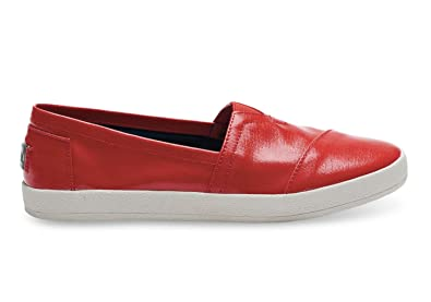 761ff34ff02 Image Unavailable. Image not available for. Color: Toms Avalon Slip-Ons Red  ...