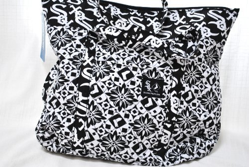 Chicago White Sox MLB Official Hugh special fabric fashion tote bag purse (Gift Sox Bag)
