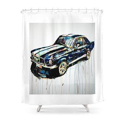 MAOXUXIN Detroit Mustang Shower Curtain 60quot