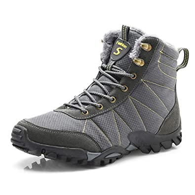 783e5b3557d43 Minetom Homme Femme Chaussures Trekking Randonnée Bottes De Neige Hiver  Imperméable De Plein Air Boots Unisexe