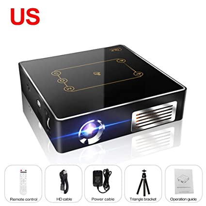 b8732cc2b91ea9 Amazon.com: CSQ C9Plus DLP Min Projector 4K Home Theater Projector 2500  Lumens Quad-Core 1.5GHz 2G 16G Dual Wifi 8000mAh Android 7.1 Bluetooth 4.0  2.4G/5G: ...