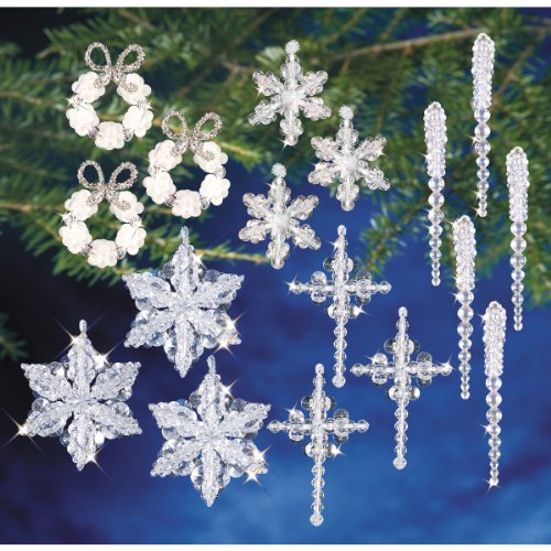 Holiday Beaded Ornament Kit Collection-Crystal Collection ()