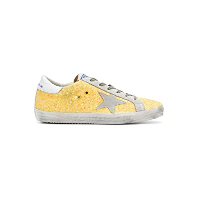 480801398c Amazon.com | Golden Goose Women's Sneakers Superstar Citrus Glitter ...