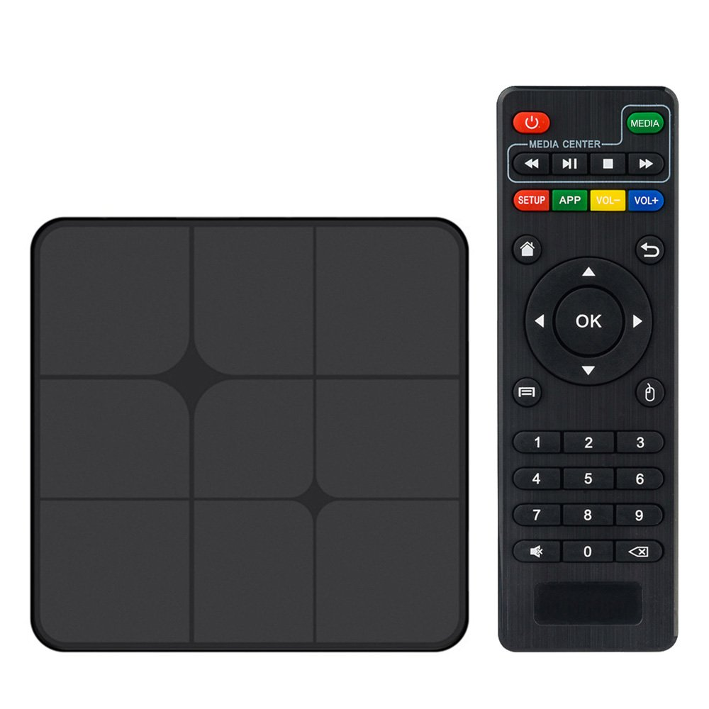 Walmeck Smart Android TV Box,T96 Marx,Android 7.1 RK3229 Quad Core UHD 4K VP9 H.265 1GB/8GB DLNA AirPlay WiFi LAN HD Media Player US Plug by Walmeck