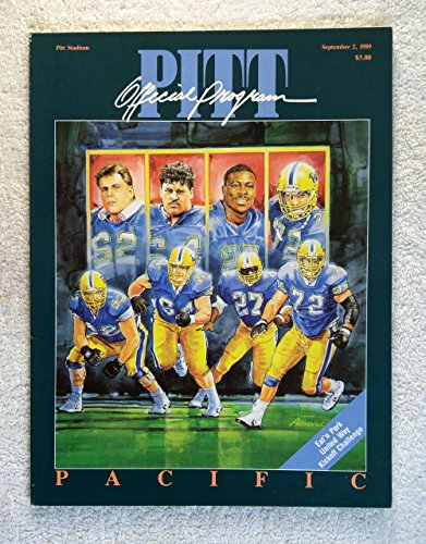 Pitt Panthers - Official Program vs Pacific - September 2, 1989 - College Football - University of Pittsburgh by...