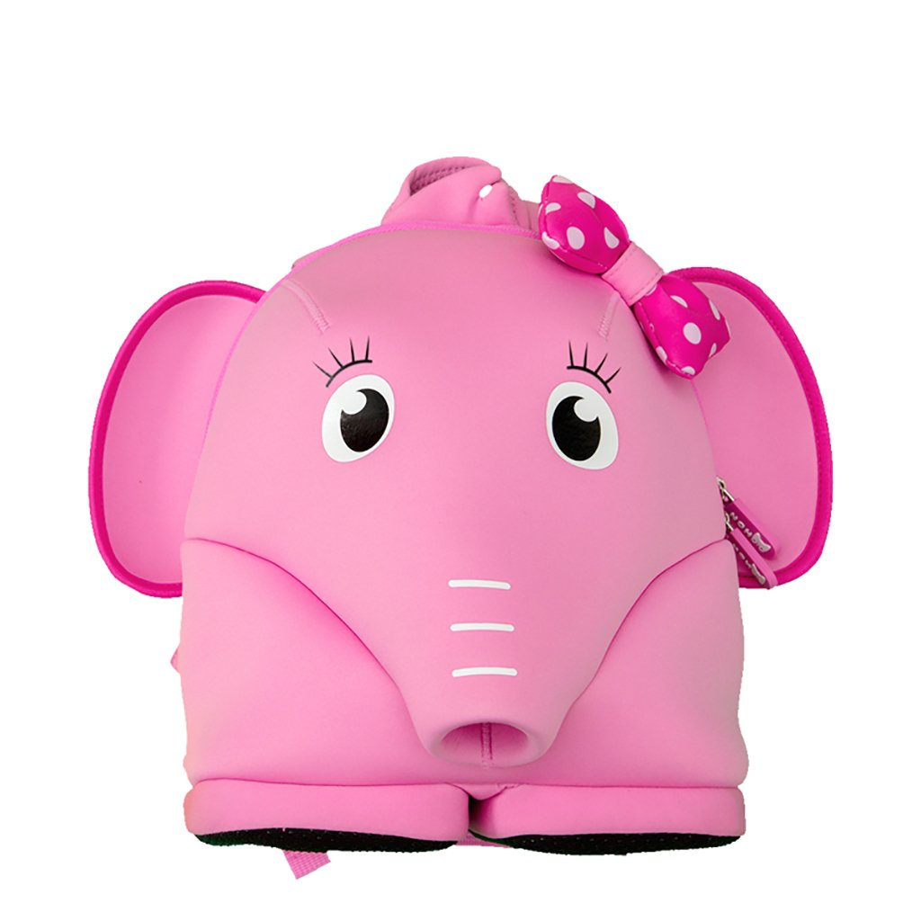 JLRQY Zaino Per Bambini 3D - Borsa Da Viaggio Impermeabile - Zaino Per Animali Elefante Carino Da 1-5 Anni Borsa Per Scuola Materna Per Bambini,rosa