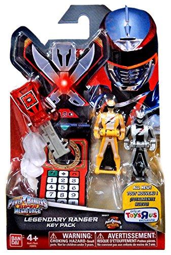 Power Rangers Super Megaforce - Operation Overdrive Legendary Ranger Key Pack, Red, Yellow, Silver Red Power Ranger Operation Overdrive