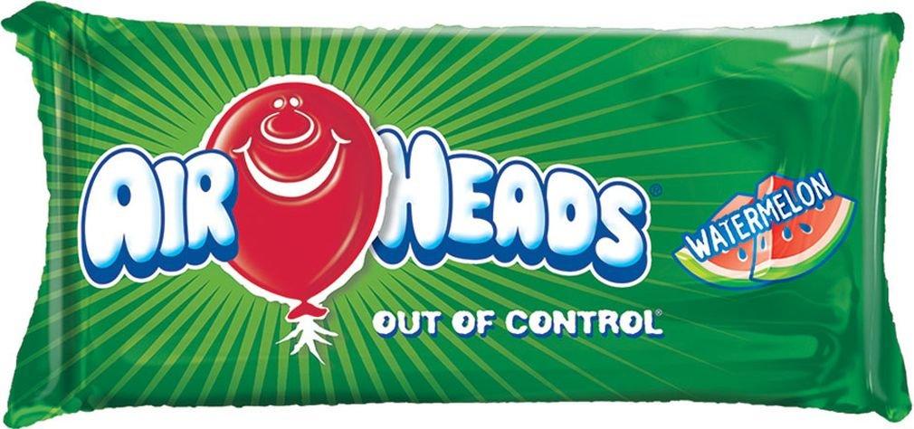 iscream Airheads Watermelon Package Shaped Metallic 26'' x 12'' Microbead Pillow by iscream