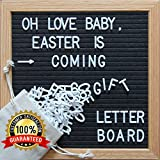 HIGH QUALITY BLACK FELT LETTER BOARD The board is constructed with high quality, durable materials that will last for years to come! Quality is important for us , we want you to be happy with your product;if you have any question about the pr...