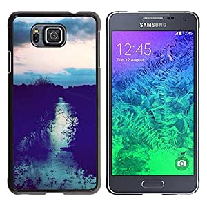 For Samsung GALAXY ALPHA G850 Case , Field Sunset After Sky Night View - Diseño Patrón Teléfono Caso Cubierta Case Bumper Duro Protección Case Cover Funda