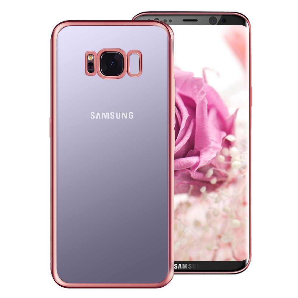 Tronisky Coque de protection en silicone TPU souple pour Samsung Galaxy S8 Coque de protection anti-rayures et anti-chocs pour Samsung Galaxy S8 Rose TPUS8R