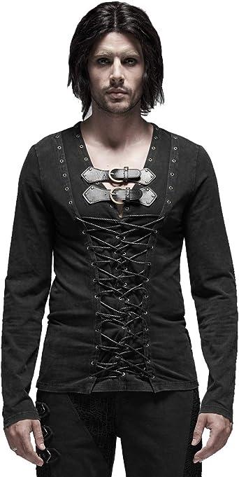 Punk Rock - Camiseta de manga larga para hombre (algodón), diseño ...