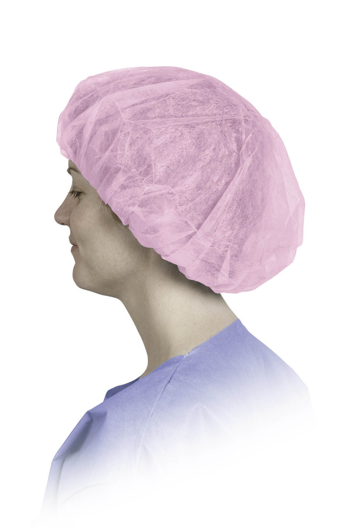 Medline CRI1008 Single Ply Polypropylene Bouffant Caps, Latex Free, Regular/Large, Pink (Pack of 500) by Medline