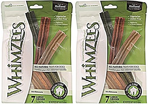 Whimzees Large Stix Dog Treats 7 Count Per Pack