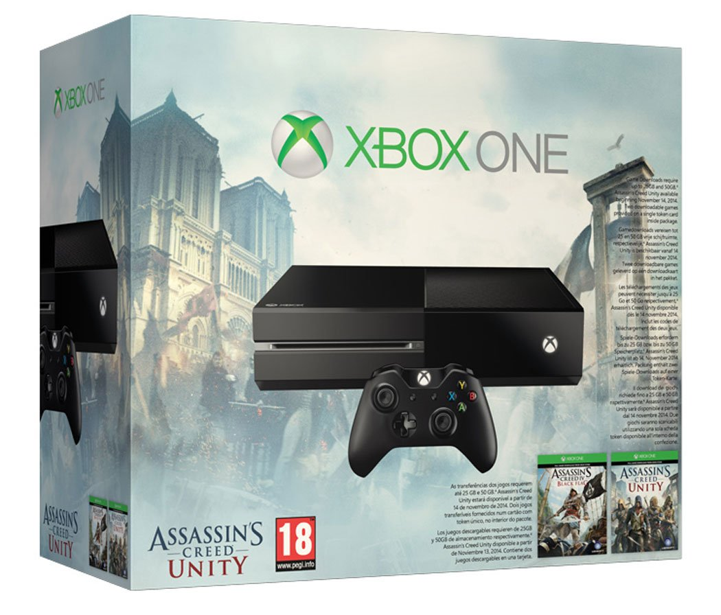 Xbox one console with assassin s creed unity black flag amazon co uk pc video games