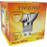 YIFENG Lot de 6 ampoules halogènes Starlight 50 W GU10, 220-240 V