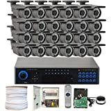 32 Channel (24) Varifocal Zoom 700 TVL Security Camera 6TB 960H DVR Surveillance System - Vandal proof & Water proof 42pcs IR LED 131 ft IR Night Vision For Ourdoor / Indoor Use