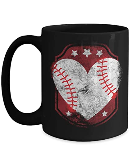 9e830aabd908 Image Unavailable. Image not available for. Color  Funny Novelty Gift For  Baseball Fan Baseball Heart Best ...