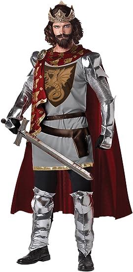 Mens - Disfraz de caballero medieval para hombre, talla XL (213105 ...