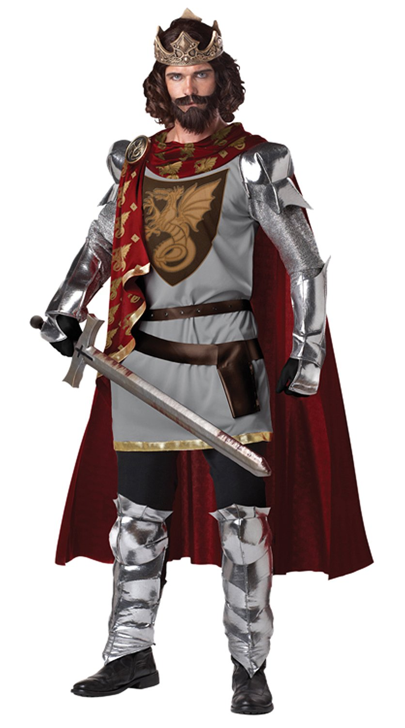 California Costumes Men's King Arthur Adult, Silver/Red, Medium