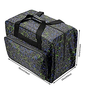 Anfan Sewing Machine Carrying Case Tote Bag-Padded Storage Cover Carrying Case with Pockets and Handles by Anfan