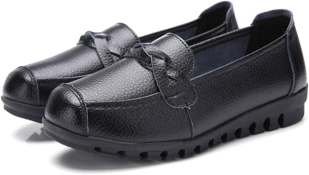YUTING Zapatos de Mujer Suave Respirable Cuero Moda Recortar ...